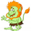 Stock Vector: Green troll