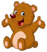 Gelukkig teddy bear — Stockvector