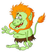 Green troll — Stock Vector
