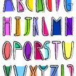 Artistic alphabet — Stock Vector