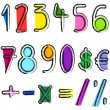 Stock Vector: Artistic numbers