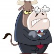 Angry business bull — Stock Vector