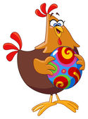 Chicken with easter egg — Stock Vector