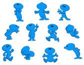 Cartoon character — Vector de stock
