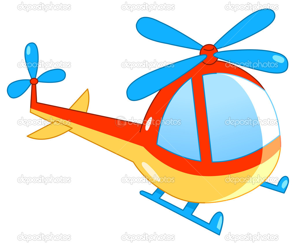 Helicopter cartoon — Vector by