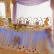 Foto Stock: Table set