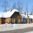 Russian northern houses — Stock Photo