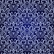 Blue seamless wallpaper pattern — Stock Vector #4287779