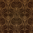Brown seamless wallpaper pattern — Stock Vector #4287917