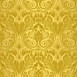 Stock Vector: Gold seamless wallpaper
