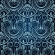 Blue seamless wallpaper pattern — Stock Vector