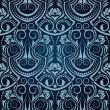Blue seamless wallpaper pattern — Stock Vector #4287925