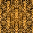 Brown seamless wallpaper pattern — Stock Vector
