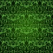Vetorial Stock : Green seamless wallpaper pattern