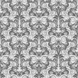 Stock Vector: Grey seamless wallpaper pattern