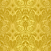 Gold seamless wallpaper — Stock Vector