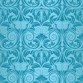 Blue seamless wallpaper pattern — Stock Vector