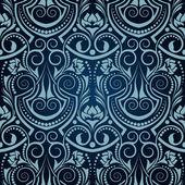 Seamless wallpaper blauen muster — Stockvektor