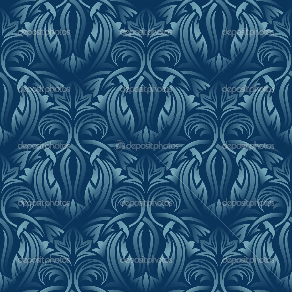 Blue seamless wallpaper pattern  — Stock Vector #4287907