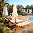 Beautiful lounges near the pool - Foto de Stock