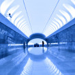 Blue light metro station - Foto Stock