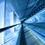 Moving escalator — Stock Photo #4242165