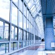 Glass corridor in office - Stock Photo