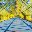 Glass Yellow corridor in office — Stock Photo