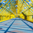 Glass Yellow corridor in office — Stock Photo #4242678