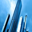 Royalty-Free Stock Photo: Blue high glass modern building skyscrapers