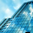 Royalty-Free Stock Photo: Blue glass wall of luxury hotel