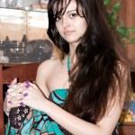 Pretty brunette girl — Stock Photo