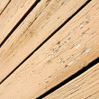 Striped texture of wooden house — Stock Photo