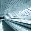 Perspective view to moving escalator in metro station — Stock Photo