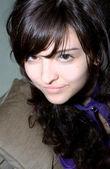 Hezká brunetka holka — Stock fotografie