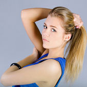 Portrait of lovely teenage girl — Stock Photo