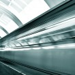 Fast moving train by motion - 图库照片