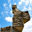 Bizarre stone construction in Spain - Stock Photo