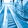 Moving escalator - Stock Photo