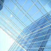 синяя стеклянная стена роскошный отель — Стоковое фото