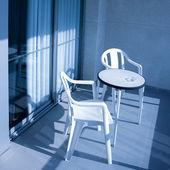 Ruhen auf einem Balkon — Stockfoto