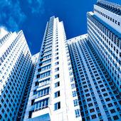 Perspektywy szklane ściany wieżowca — Zdjęcie stockowe