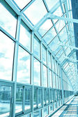 Blue hall of business center — Stock Photo
