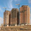 Stock Photo: Construction of residential houses.