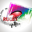 Grungy background with rugby ball — Stock Vector #5239357
