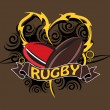 Royalty-Free Stock Vector Image: Grungy background with rugby ball