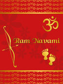Illustration for ramnavami celebration — Stock Vector