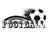 Vector grungy background with football — Stock Vector