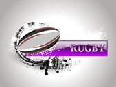 Grungy background with rugby ball — Stock Vector