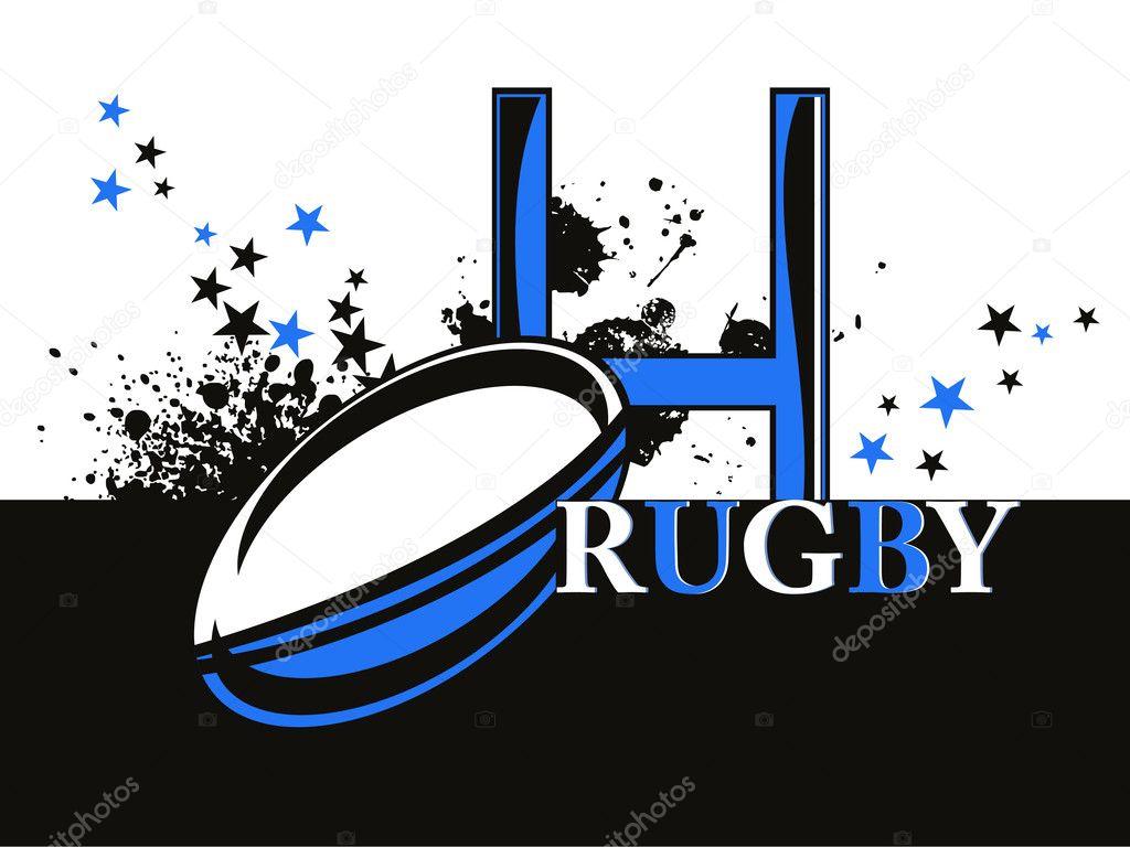 Deportes Pelotas Fondo Grunge: Fondo Grunge Con Balón De Rugby
